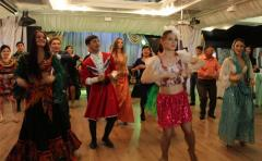 Dancing interactive with guests in Almaty for a