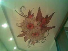 Fresco sticker on a ceiling