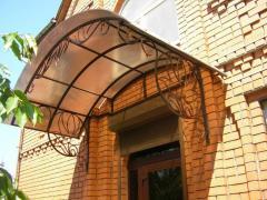 Production of canopies, arbors, garden furniture