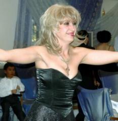 Irina Allegrova's double in Almaty for
