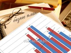 Development of business plans through passage in