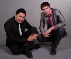 The showman Malik and Alexander in Almaty for