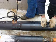 Монтаж тепловой защиты трубопровода тепловых сетей