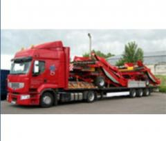 Equipment cargo transportation