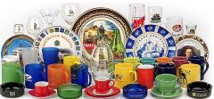 Drawing logos, pictures on mugs, plates, t-shirts,
