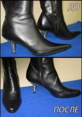 Ремонт обуви прошив в ручную