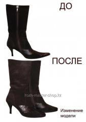 Реставрация, изменения фасона формы носка обуви (пара)