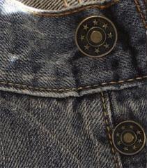 Установка джинсовой пуговицы