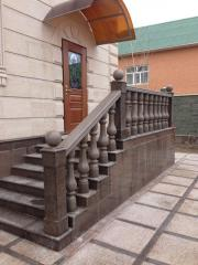 We produce and establish rail-posts from marble