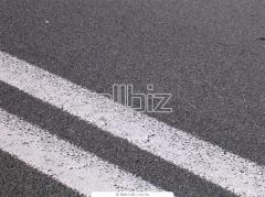 Drawings lines of road marking thermoplastic