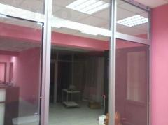 Production of aluminum doors and stained-glass