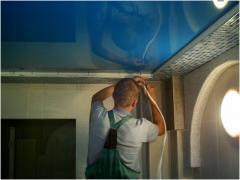 Installation of ceilings in Koksheta