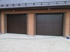 Installation of garage gate in Koksheta