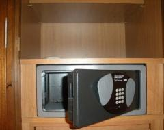 Installation of hotel safes