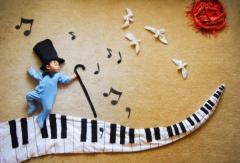 Occupations by music in kindergarten of Almaty