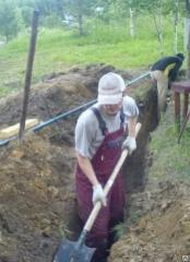 Рытье траншей услуги землекопа в алматы