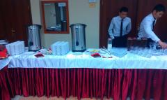 Exit service of cooks of waiters of bartenders of
