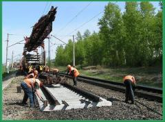 Construction of railway tracks, stations,