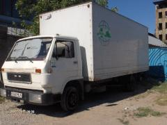 Cargo transportation car on the city of Almaty
