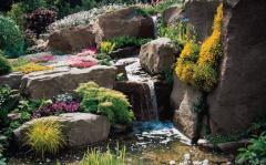The device rokariyev, rock gardens without hvoynik