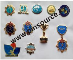 Production of corporate badges under the order