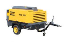 El alquiler del compresor Atlas Copco XAS de Diesel 186