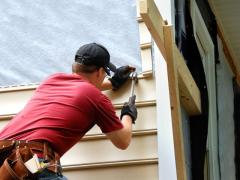 Installation of a siding, professional leaf, water