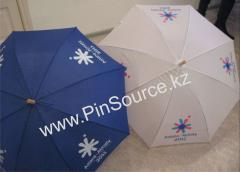 Нанесение лого на зонты на заказ