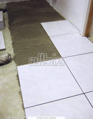 Laying of the glazed tile