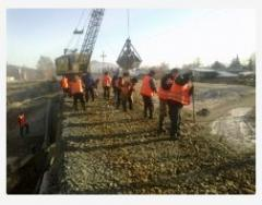 Construction of a railway track and commissioning