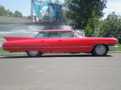 Hire of a retro of the Cadillac De Ville car