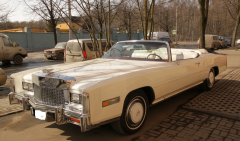 Hire of a retro of the Cadillac Eldorado car of