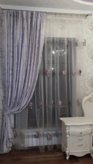 Design of curtains, curtains, portieres
