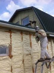 Warming by polyurethane foam, thermal insulation
