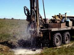 Drilling of wells for water supply