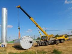 Services of special equipment of 25-50-60-70 tons