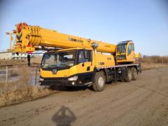 Services of the truck crane 50-25-40-70tonn in