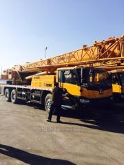 Rent of the truck crane 25-40-50-70tonn in Almaty.
