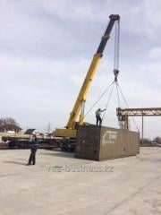 Services of the truck crane of 25-50-70 tons of