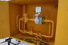 Installation of metering stations of gases