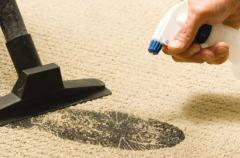 Dry cleaning of carpets