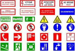 Development of signs according to safety measures