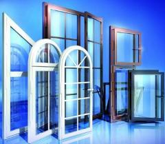 Glazing of balconies and loggias of PVC profile