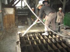 Production of foam-concrete blocks