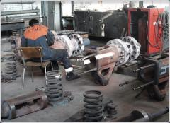 Repair of bearings of sliding