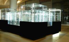 Illumination of show-windows, mounting of