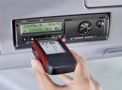 Unloading of data from the digital tachograph