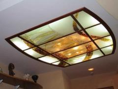 Изготовление стеклянных потолков