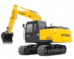 Rent of caterpillar excavators