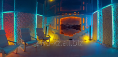 Construction of baths, saunas, hamam, pools,
